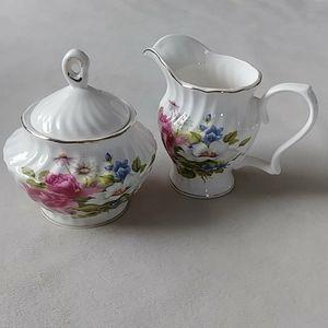 Vintage Sugar & Cream holder set